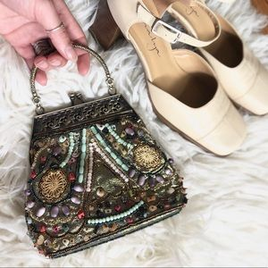 Vintage Beaded Embroidery Hand Bag